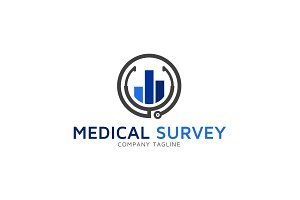 Medical Survey Logo Template