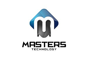 Master Tech - 3D Letter D Logo