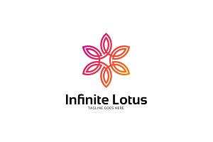 Infinity Lotus Flower Logo Template