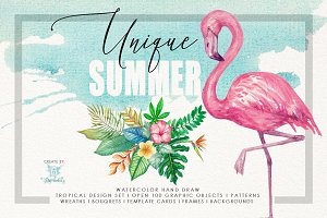 Watercolor Unique Summer