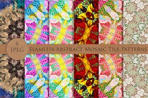 Seamless Abstract Mosaic Patterns