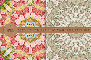 Seamless Abstract Mosaic Patterns