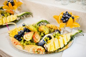 Wedding reception, table of fruits