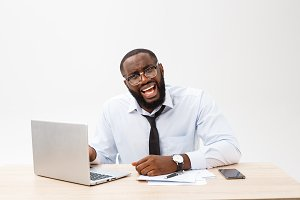 Disappointed African businessman is