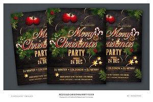 Red/Black Christmas Party Flyer