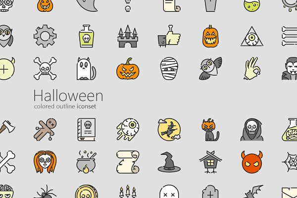 Icons: LAFS - Halloween colored outline iconset