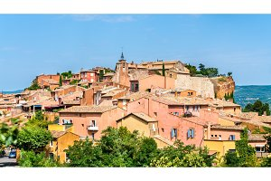 View of Roussillon, a famous town in