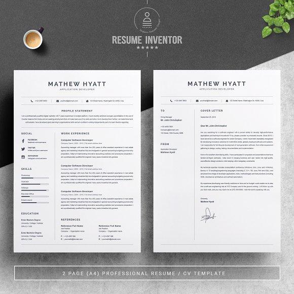 clean resume cv template resume templates creative market