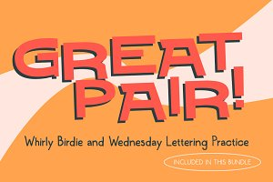 Whirly Birdie & Wednesday Lettering!