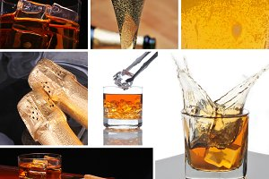 Alcoholic Beverage Collage
