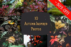 10 Autumn Inspired Photos - 50% Off!
