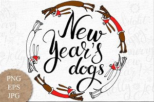 New Year's Dogs.