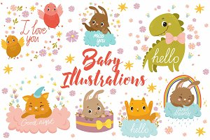 Baby Illistrations/ kid patterns