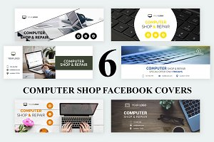 6 Computer Shop Facebook Covers