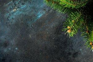 Dark christmas background