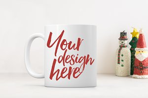 Christmas styled stock mug mock up