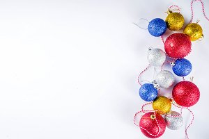 Colorful Christmas tree balls