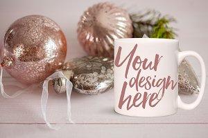 Christmas styled stock mug mock-up