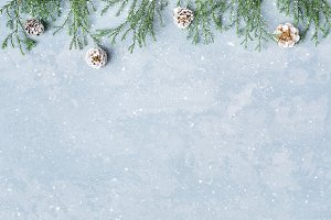 Christmas, New Year snowy background