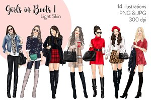 Girls in Boots 1 - Light Skin