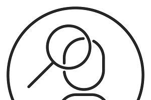 Search for an idea stroke icon, logo
