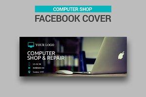 Computer Shop Facebook Cover - SK