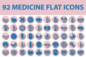 92 MEDICAL flat icons