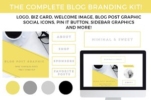 Blog Branding Kit: Minimal & Sweet