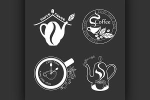 Coffee Retro Vintage Labels Logo