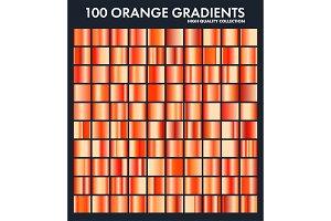 Orange chrome gradient set,pattern