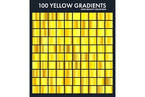 Yellow chrome gradient set,pattern