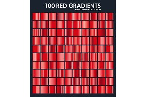 Red chrome gradient set,pattern
