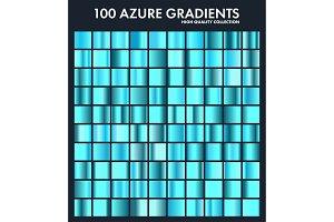 Blue azure chrome gradient set