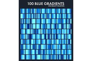 Blue chrome gradient set,pattern