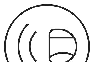 Sound stroke icon, logo illustration