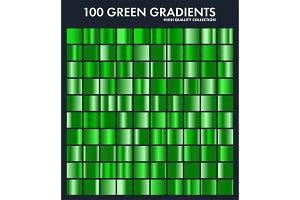 Grren chrome gradient set,pattern
