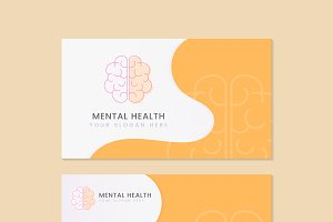 Mental health psychiatrist name card