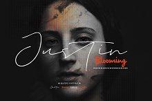 Justin Blooming (4 Fonts)
