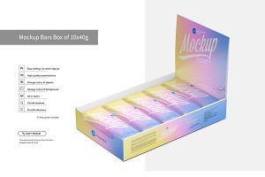 Mockup Bars Box of 10x40g
