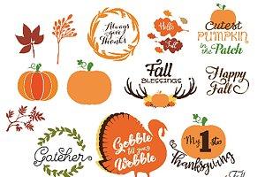 Thanksgiving SVG Fall/Autumn Bundle