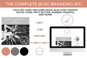 Monogram Blog/Website Branding Kit