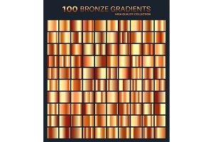 Bronze gradient,pattern,template.Set