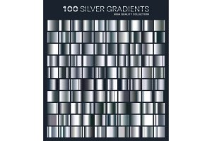 Silver gradient,pattern,template.Set