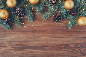 Festive wooden background