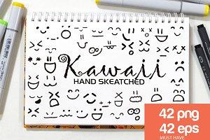 Kawaii Faces - Vector & PNG