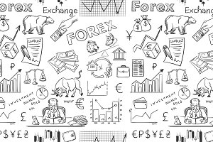 finance forex hand drawing pattern