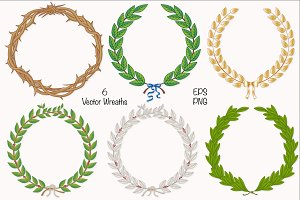 Wreath & Laurel Collection Vector
