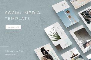 Minimalism Social media template