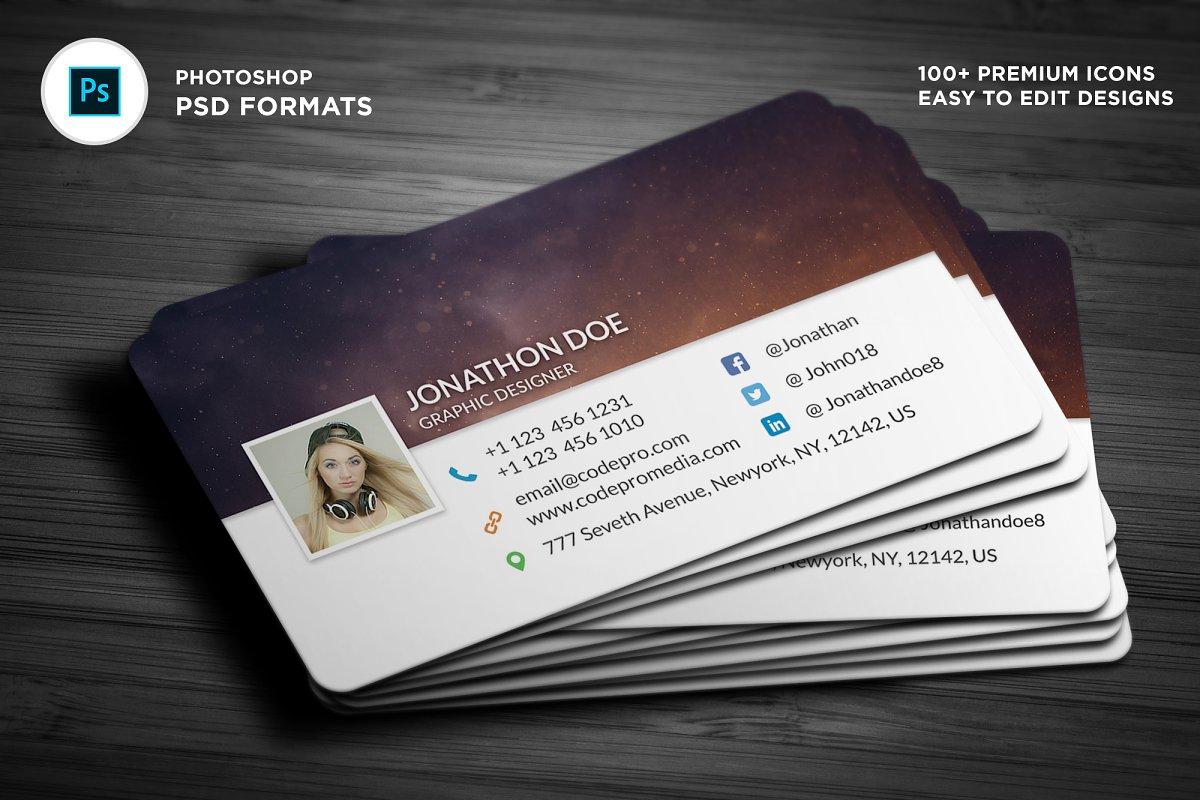Facebook Timeline Style BusinessCard ~ Business Card Templates