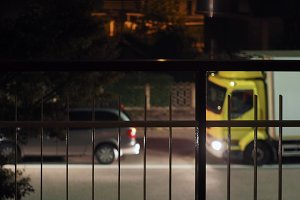 heavy night traffic at border contro